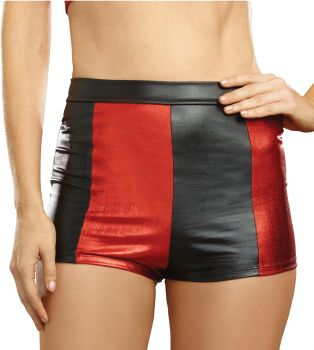 Women's Black & Red Harlequin Shorts - Adult S/M (2 - 8)
