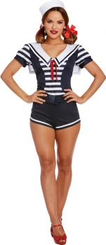 Women's Seaside Sailor Costume - Adult L (10 - 14)