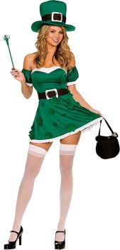 Women's Spank Me I'm Irish Costume - Adult S (2 - 6)