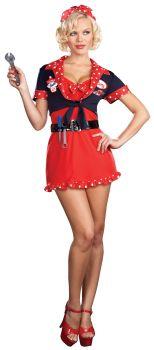 Women's Bettys' Full Service Costume - Adult L (10 - 14)