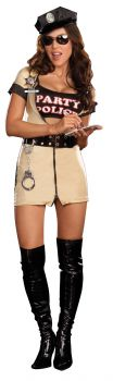 Women's Party Police Costume - Adult L (10 - 14)