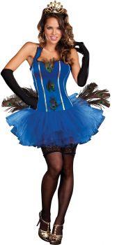 Women's Royal Peacock Costume - Adult L (10 - 14)
