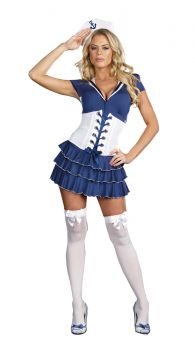 Women's She's On Sail Costume - Adult L (10 - 14)