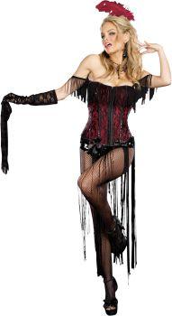 Women's Burlesque Beauty Costume - Adult M (6 - 10)