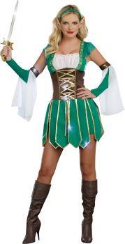 Women's Warrior Elf Costume - Adult XL (14 - 16)