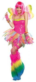 Women's Rainbow Fairy Costume - Adult S (2 - 6)