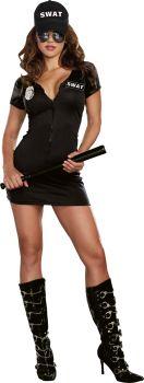 Women's SWAT Police Costume - Adult S (2 - 6)