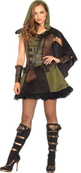 Women's Darling Robin Hood Costume - Adult Large