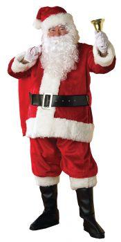 Men's Deluxe Plush Regency Santa Costume - Adult X-Large