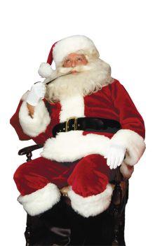 Men's Crimson Imperial Plush Santa Suit - Adult OSFM