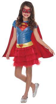 Girl's Supergirl Tutu Dress - Child Small