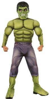 Boy's Deluxe Muscle Chest Hulk Costume - Child Small