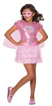 Girl's Pink Supergirl Tutu Dress - Child Small