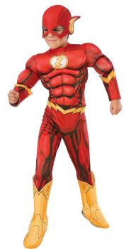 Boy's Deluxe Photo-Real Muscle Chest Flash Costume - Child Medium