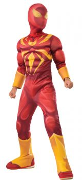 Boy's Deluxe Muscle Chest Iron Spider Costume - Child Small