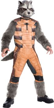 Boy's Deluxe Rocket Raccoon Costume - Guardians Of The Galaxy - Child Small