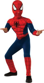 Boy's Spider-Man Muscle Costume - Child Small