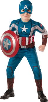 Boy's Captain America Costume - Child Large