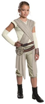 Girl's Deluxe Rey Costume - Star Wars VII - Child Small