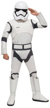 Boy's Deluxe Stormtrooper Costume - Star Wars VII - Child Small