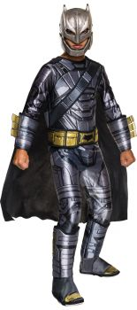 Boy's Deluxe Armored Batman Costume - Dawn Of Justice - Child Large