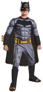 Boy's Deluxe Muscle Batman Costume - Dawn Of Justice - Child Medium