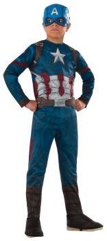 Boy's Captain America Costume - Child Small