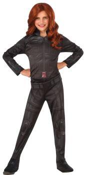 Girl's Black Widow Costume - Child Small