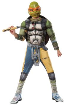 Boy's Deluxe Michelangelo Costume - Ninja Turtles - Child Large