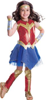 Girl's Deluxe Wonder Woman Movie Costume - Child Small