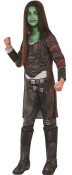 Girl's Deluxe Gamora Costume - Guardians Of The Galaxy - Child Small