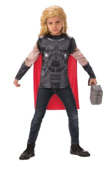 Thor Shirt With Cape - Child Small