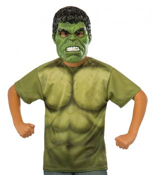 Hulk T-Shirt & Mask - Child Small