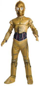 Boy's C-3PO Costume - Star Wars Classic - Child Large