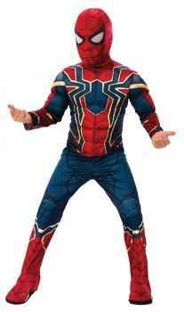 Boy's Deluxe Iron Spider Costume - Child Large