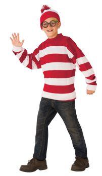 Boy's Deluxe Where's Waldo Costume - Child Small