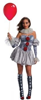 Women's Deluxe Pennywise Costume - IT Movie - Adult Small