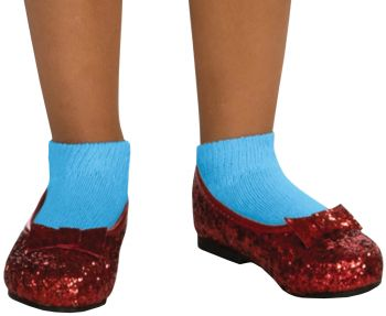Girl's Deluxe Sequin Dorothy Shoes - Wizard Of Oz - Child Shoe M (13 - 1)