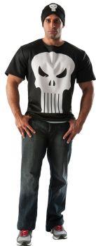 Punisher Shirt & Hat - Adult Medium