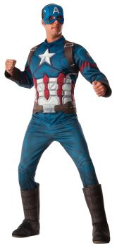 Men's Deluxe Muscle Captain America Costume - Adult X-Large