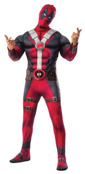 Men's Deluxe Muscle Chest Deadpool Costume - Adult X-Large
