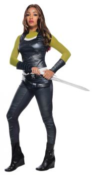 Women's Deluxe Gamora Costume - Guardians Of The Galaxy - Adult Large