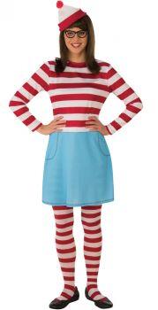 Women's Where's Waldo Wenda Costume - Adult OSFM