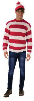 Men's Deluxe Where's Waldo Costume - Adult OSFM