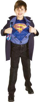 Boy's Clark Kent Superman Reverse Costume - Child Large
