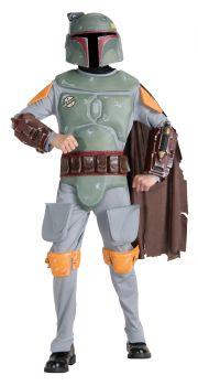Boy's Deluxe Boba Fett Costume - Star Wars Classic - Child Medium