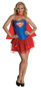 Women's Supergirl Flirty Corset Costume - Adult Large