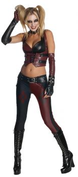 Women's Harley Quinn Costume - Arkham City - Adult Medium