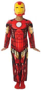 Boy's Deluxe Muscle Iron Man Costume - Child Medium