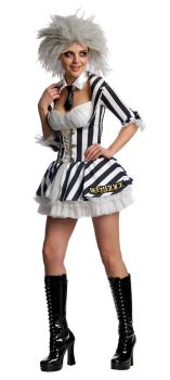 Women's Beetlejuice Sexy Costume - Adult Small